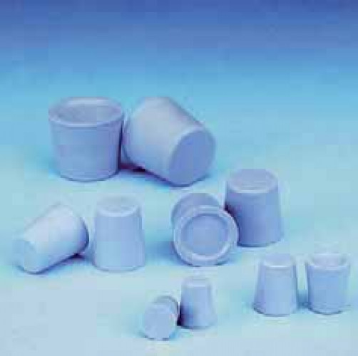 Rubber Stoppers, Grey-Blue, 21D (1 Hole)